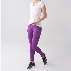 Lululemon Purple Rulu Speed Light Tights
